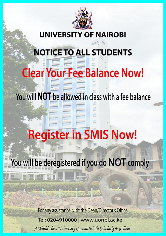 Notice To Students