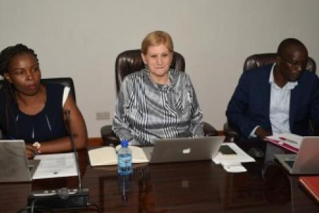 UoN VC, Prof. Kiama during a courtesy call by World Bank Consultant Dr.  Danick Ramljak with DVCRIE, Prof. Madara Ogot on Thursday Feb 20, 2020